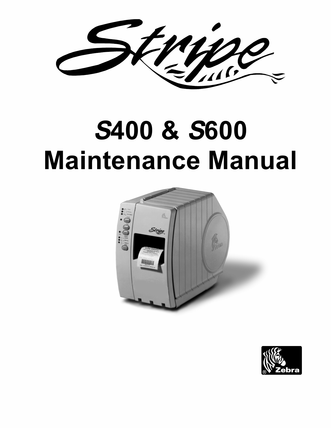 Zebra Label S400 S600 Maintenance Service Manual-1